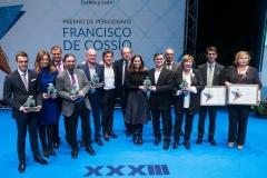 Foto de familia de los premiados en los Francisco de Cossío 2018. Autor: Wellington Dos Santos.