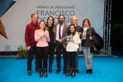 Foto con mi familia para celebrar el premio Cossío. Autor: Wellington Dos Santos